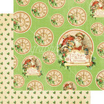 Graphic 45 - Twas the Night Before Christmas Collection - 12 x 12 Double Sided Paper - Jolly Old Elf
