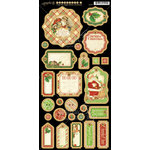 Graphic 45 - Twas the Night Before Christmas Collection - Die Cut Chipboard Tags