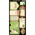 Graphic 45 - Twas the Night Before Christmas Collection - Cardstock Tags and Pockets