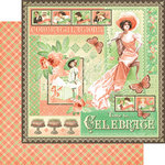 Graphic 45 - Time to Celebrate Collection - 12 x 12 Double Sided Paper - Time to Celebrate