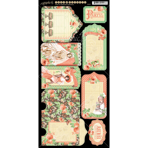 Graphic 45 - Time to Celebrate Collection - Cardstock Tags and Pockets