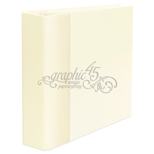 Graphic 45 - Staples Collection - Mixed Media - Album - Ivory
