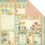 Graphic 45 - Time to Flourish Collection - 12 x 12 Double Sided Paper - April Cut Apart