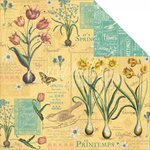 Graphic 45 - Time to Flourish Collection - 12 x 12 Double Sided Paper - April Flourish