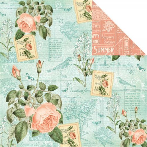 Graphic 45 - Time to Flourish Collection - 12 x 12 Double Sided Paper - June Flourish