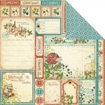 Graphic 45 - Time to Flourish Collection - 12 x 12 Double Sided Paper - July Cut Apart