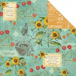 Graphic 45 - Time to Flourish Collection - 12 x 12 Double Sided Paper - August Flourish