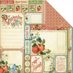 Graphic 45 - Time to Flourish Collection - 12 x 12 Double Sided Paper - September Cut Apart