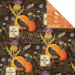 Graphic 45 - Time to Flourish Collection - 12 x 12 Double Sided Paper - October Flourish