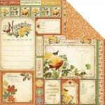 Graphic 45 - Time to Flourish Collection - 12 x 12 Double Sided Paper - November Cut Apart