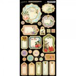 Graphic 45 - Time to Flourish Collection - Die Cut Chipboard Tags - Two
