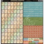 Graphic 45 - Time to Flourish Collection - 12 x 12 Cardstock Stickers - Alphabet