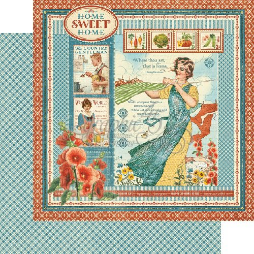 Graphic 45 - Home Sweet Home Collection - 12 x 12 Double Sided Paper - Home Sweet Home