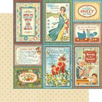 Graphic 45 - Home Sweet Home Collection - 12 x 12 Double Sided Paper - Apple Pie