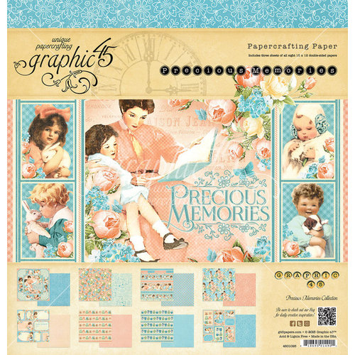 Graphic 45 - Precious Memories Collection - 12 x 12 Paper Pad