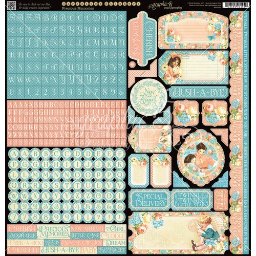 Graphic 45 - Precious Memories Collection - 12 x 12 Cardstock Stickers
