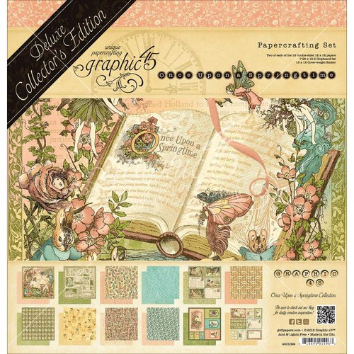 Graphic 45 - Once Upon a Springtime Collection - Deluxe Collector's Edition - 12 x 12 Papercrafting