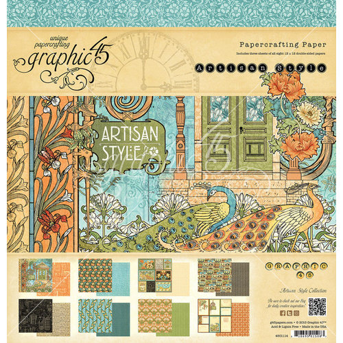 Graphic 45 - Artisan Style Collection - 12 x 12 Paper Pad
