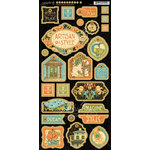Graphic 45 - Artisan Style Collection - Die Cut Chipboard Tags - Two