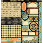 Graphic 45 - Artisan Style Collection - 12 x 12 Cardstock Stickers