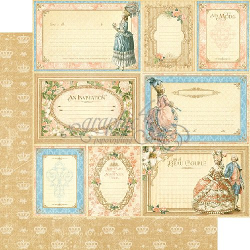 Graphic 45 - Gilded Lily Collection - 12 x 12 Double Sided Paper - Tres Chic