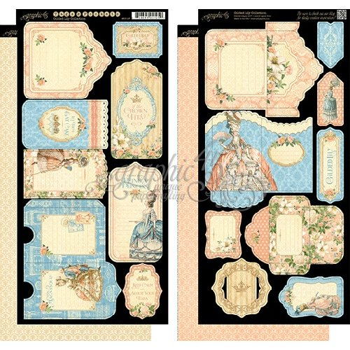 Graphic 45 - Gilded Lily Collection - Cardstock Tags and Pockets