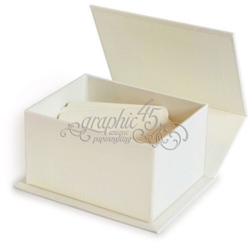 Graphic 45 - Staples Collection - Artist Trading Card Book Box - Ivory