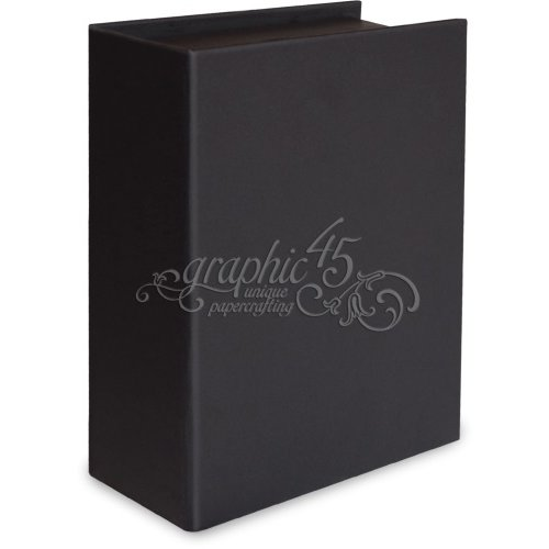 Graphic 45 - Staples Collection - Book Box - Black