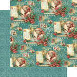 Graphic 45 - Christmas Carol Collection - 12 x 12 Double Sided Paper - Seasonal Sentiments