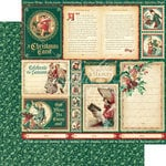 Graphic 45 - Christmas Carol Collection - 12 x 12 Double Sided Paper - Scrooge and Marley