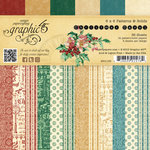 Graphic 45 - Christmas Carol Collection - 6 x 6 Patterns and Solids Paper Pad