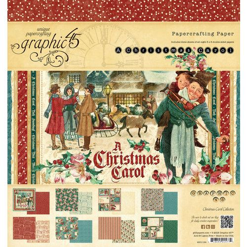 Graphic 45 - Christmas Carol Collection - 8 x 8 Paper Pad