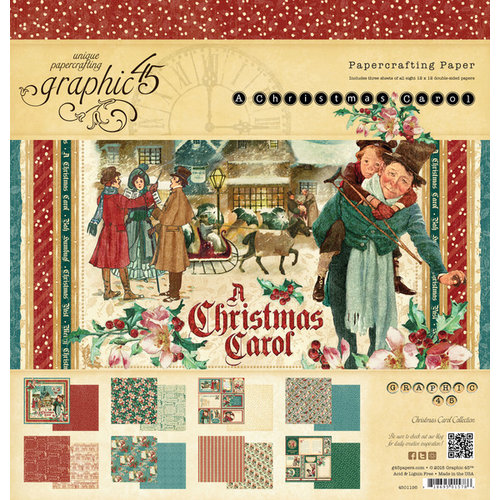 Graphic 45 - Christmas Carol Collection - 12 x 12 Paper Pad
