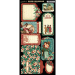 Graphic 45 - Christmas Carol Collection - Cardstock Tags and Pockets