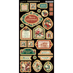 Graphic 45 - Christmas Carol Collection - Die Cut Chipboard Tags - One