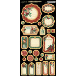 Graphic 45 - Christmas Carol Collection - Die Cut Chipboard Tags - Two