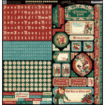 Graphic 45 - Christmas Carol Collection - 12 x 12 Cardstock Stickers