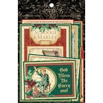 Graphic 45 - Christmas Carol Collection - Journaling and Ephemera Cards