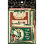 Graphic 45 - Christmas Carol Collection - Journaling and Ephemera Cards