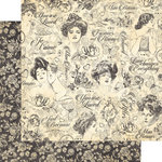 Graphic 45 - Mon Amour Collection - 12 x 12 Double Sided Paper - Precious One