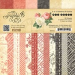 Graphic 45 - Mon Amour Collection - 6 x 6 Patterns and Solids Paper Pad