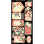 Graphic 45 - Mon Amour Collection - Cardstock Tags and Pockets