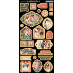 Graphic 45 - Mon Amour Collection - Die Cut Chipboard Tags - One