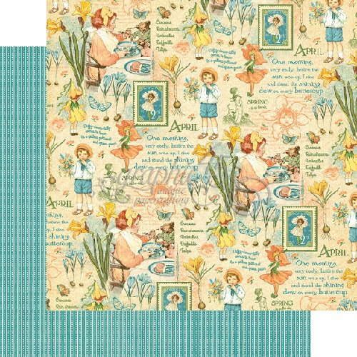 Graphic 45 - Childrens Hour Collection - 12 x 12 Double Sided Paper - April Montage