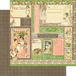 Graphic 45 - Childrens Hour Collection - 12 x 12 Double Sided Paper - May Collective