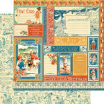 Graphic 45 - Childrens Hour Collection - 12 x 12 Double Sided Paper - July Collective