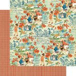 Graphic 45 - Childrens Hour Collection - 12 x 12 Double Sided Paper - July Montage
