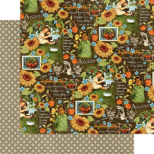 Graphic 45 - Childrens Hour Collection - 12 x 12 Double Sided Paper - August Montage