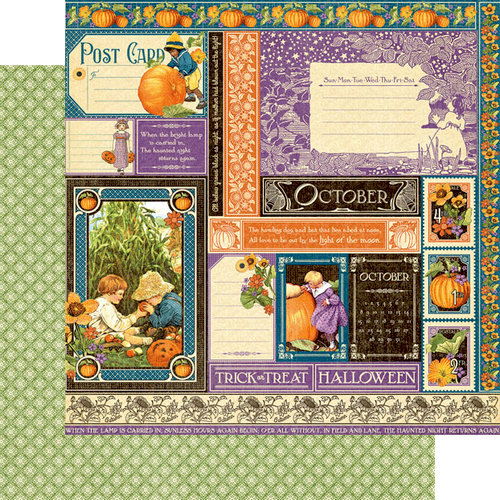 Graphic 45 - Childrens Hour Collection - 12 x 12 Double Sided Paper - October Collective