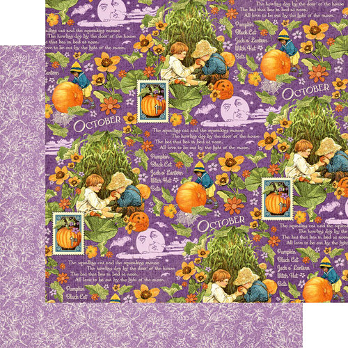 Graphic 45 - Childrens Hour Collection - 12 x 12 Double Sided Paper - October Montage